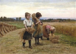 jeunes-glaneuses (peinture de Jules Breton 1827-1906)